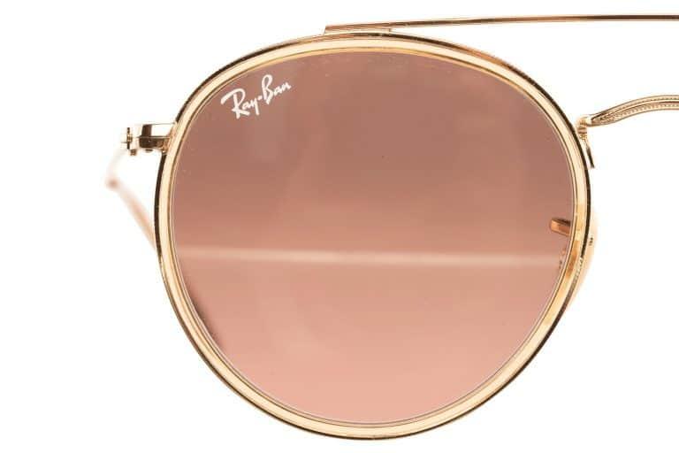 productfotografie packshot brillen zonnebril rayban close up onbewerkt goud 768x512 - Productfotografie van brillen