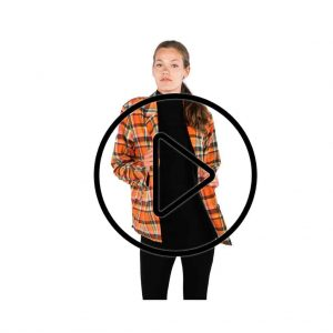 Productfotografie liveshoot kleding blazer mode oranje geruit 300x300 - Productfotografie