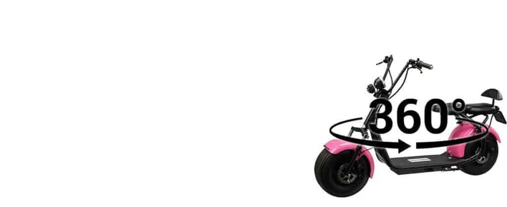 productfotografie 360 graden fotografie scooters big wheel cruiser elektrische step duozit roze 1024x418 - Productfotografie van scooters