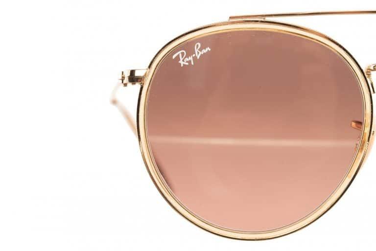 productfotografie packshot brillen zonnebril rayban goud bruinglas 768x513 - Productfotografie van brillen